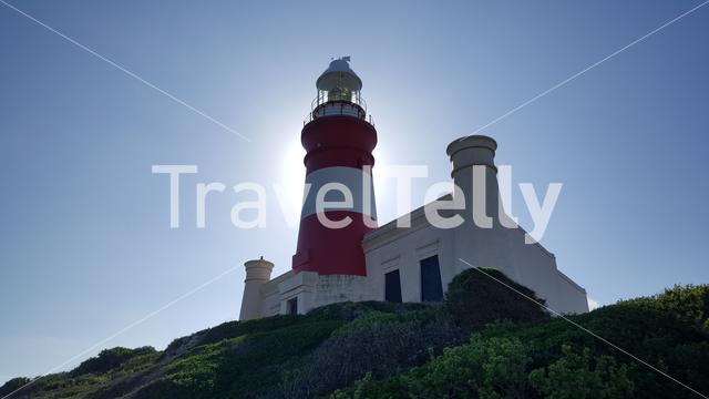 Lighthouse of Cape Agulhas in South Africa