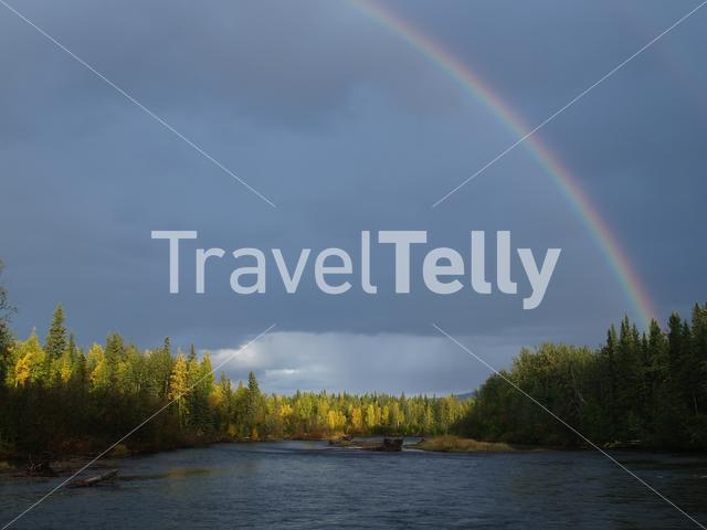 Rainbow at Steward River in Mayo Yukon Canada