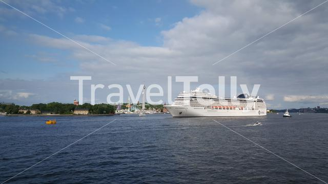 MSC Cruise ship in Stockholm Sweden
