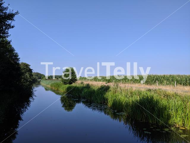 Canal around Oranjewoud in Friesland, The Netherlands