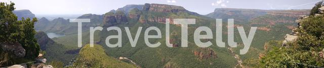 Blyde River Canyon panorama in South Africa