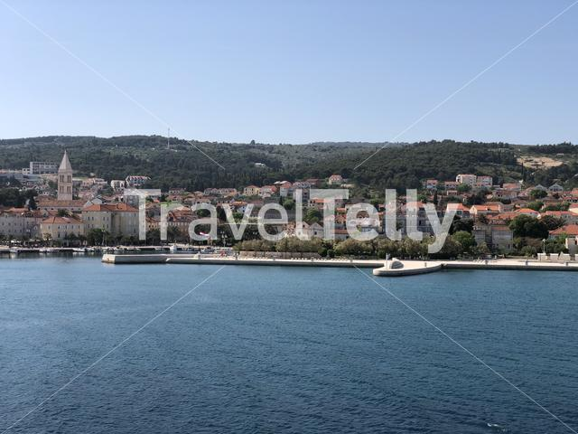 Supetar a town of the Dalmatian island on Brac in Croatia