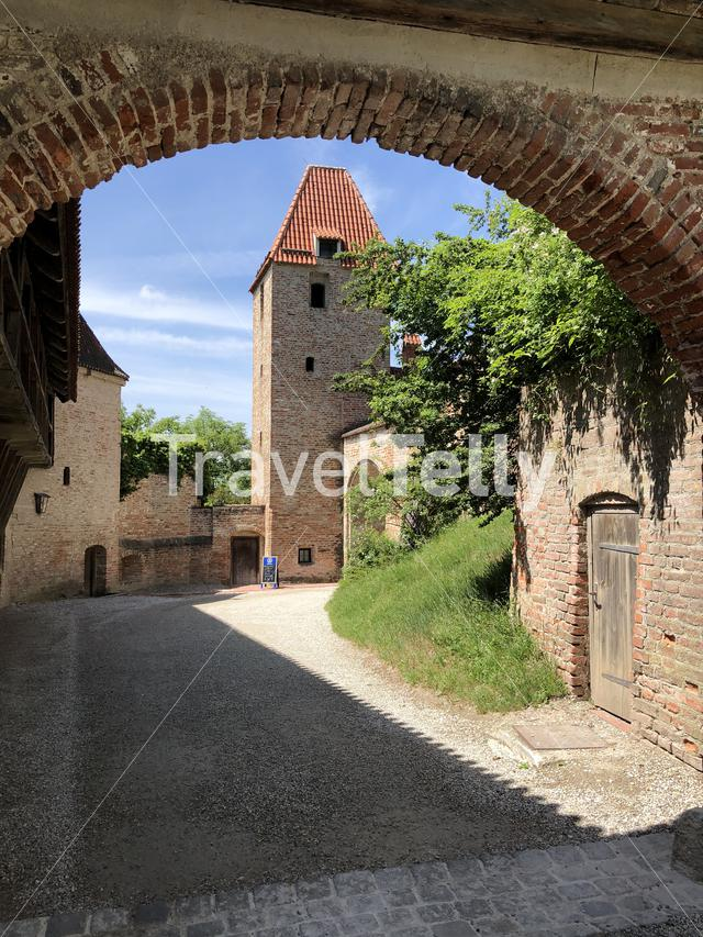 Gate at the Trausnitz Castle in Landshut Germany