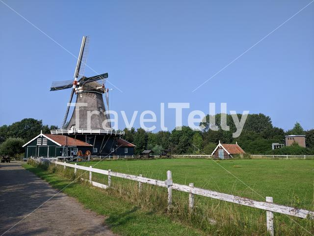 Windmill 'Bolwerks' in Deventer, The Netherlands