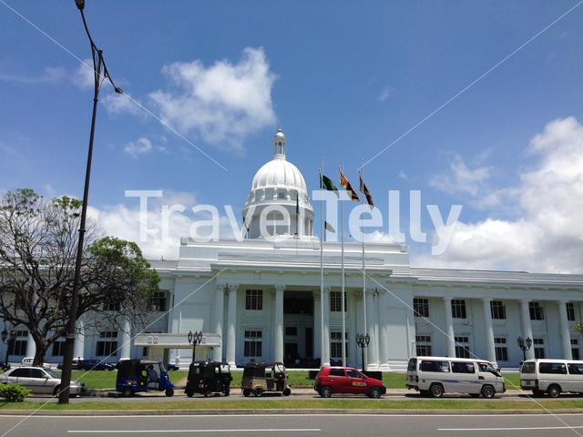 The Town Hall of Colombo is the headquarters of the Colombo Municipal Council and the office of the Mayor of Colombo