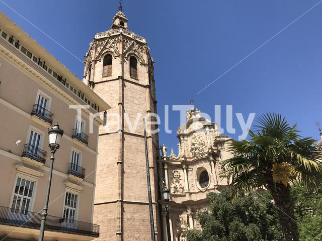 Plaza de la Reina with the Micalet in Valencia