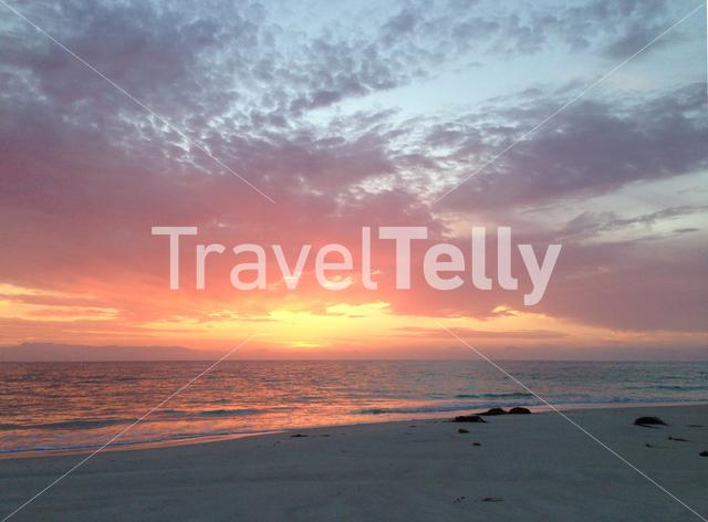 Sunset at the beach in Cervantes Western Australia