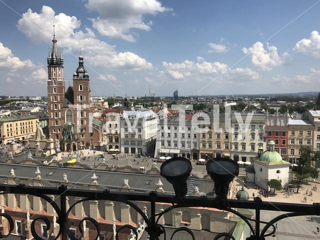 St. Mary's Basilica seen from the Town Hall Tower in Poland