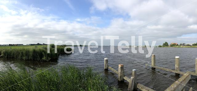 Lake around gaastmeer in Friesland, The Netherlands