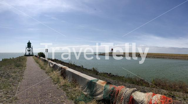 Panorama from the pier of Stavoren, Friesland The Netherlands