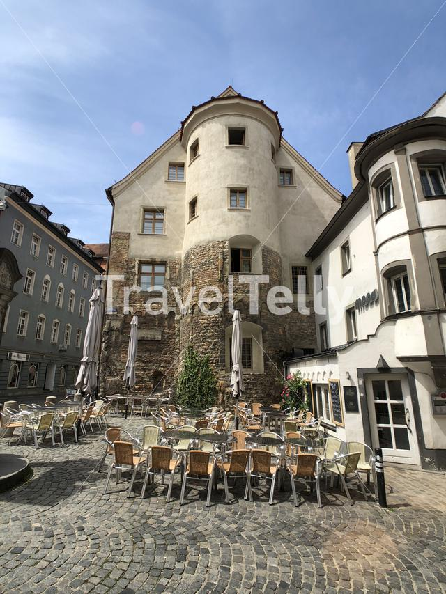 Terrace in Regensburg, Germany