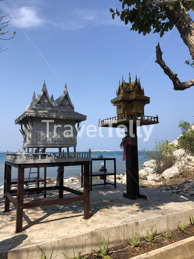 Spirit house near the beach of Koh Samed Thailand