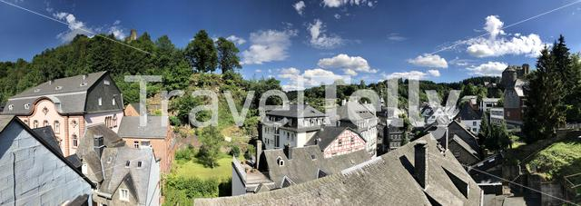 Panorama from the town Monschau in Germany
