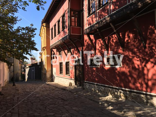 Architecture in the old town of Plovdiv Bulgaria