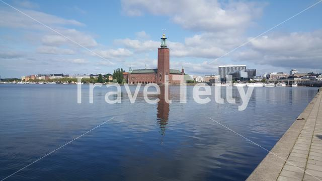 Stockholm City Hall building of the Municipal Council for the City Stockholm in Sweden