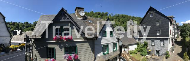 Panorama from a street in Monschau Germany