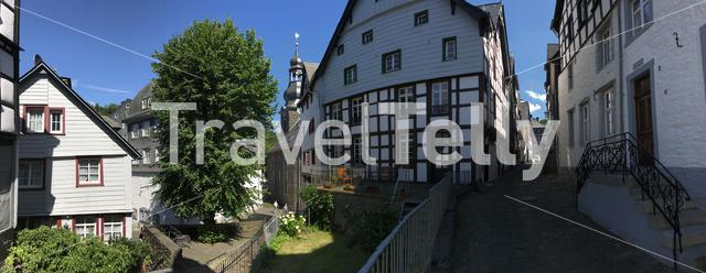 Panorama from Timberframe houses in Monschau Germany