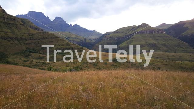 Landscape in Drakensberg National Park South Africa