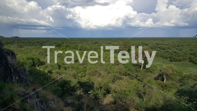 Aerial view from Chobe National Park in Botswana