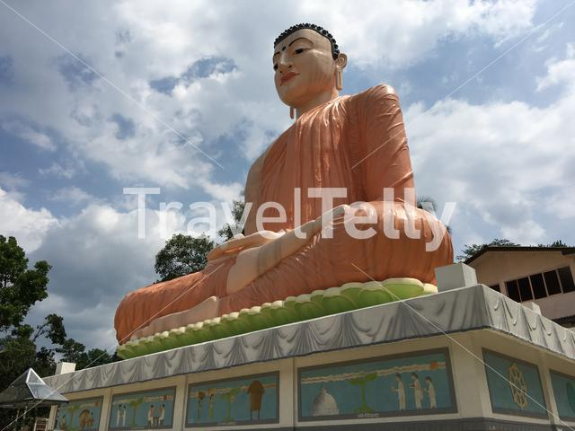 The Samadhi Buddha Statue at Hidellana, Weeragoda Sri Maha Temple in Ratnapura