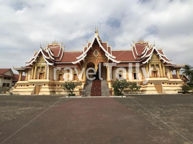Buddhist Temple next to the Pha That Luang in Vientiane Laos