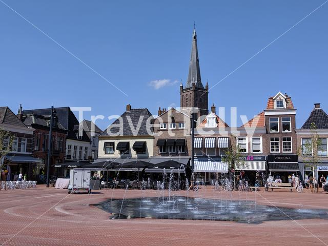 Fountain in the old town of Steenwijk, The Netherlands