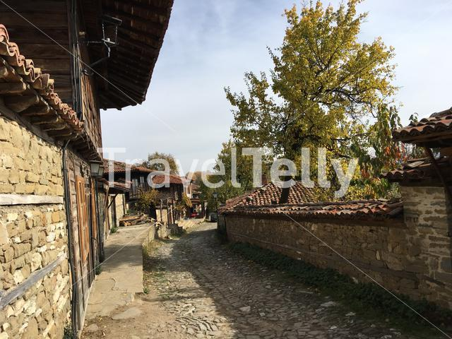 Beautiful old street in the village Zheravna of Bulgaria