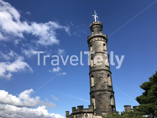 The Nelson Monument at the Calton Hill in Edinburgh Scotland