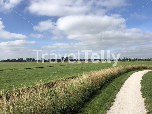Path towards IJlst in Friesland The Netherlands