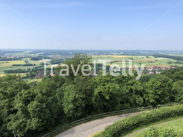 Scenic view from the Altenburg Castle in Bamberg Germany