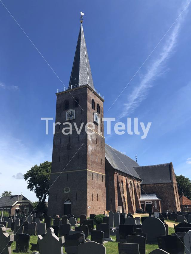 Church in Hallum, Friesland The Netherlands