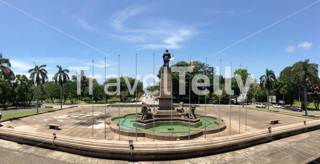 Panorama view from the Independence Memorial Hall at the Independence Avenue in Colombo Sri Lanka