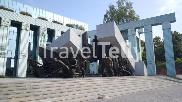 Warsaw Uprising Monument is a monument in Warsaw, Poland, dedicated to the Warsaw Uprising of 1944