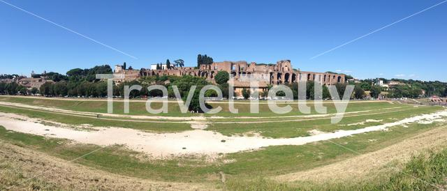 Circus Maximus remains of an arena for chariot races in Rome Italy