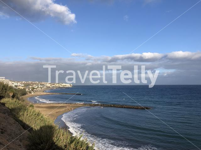 Coast of Maspalomas on Gran Canaria