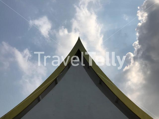 Roof from a building around Wat Yai Chai Mongkhon a Buddhist temple in Ayutthaya, Thailand