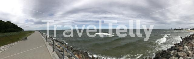 Panorama the Westerplatte in Gdansk Poland