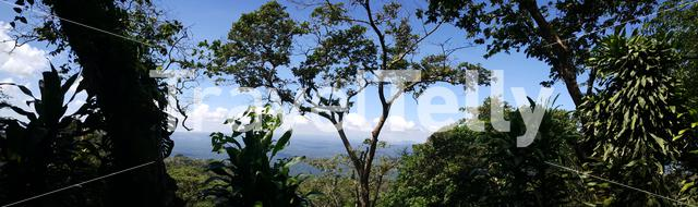 Panorama view from the Mombacho volcano in Nicaragua