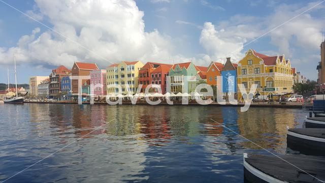 Colorful houses in Willemstad Curacao