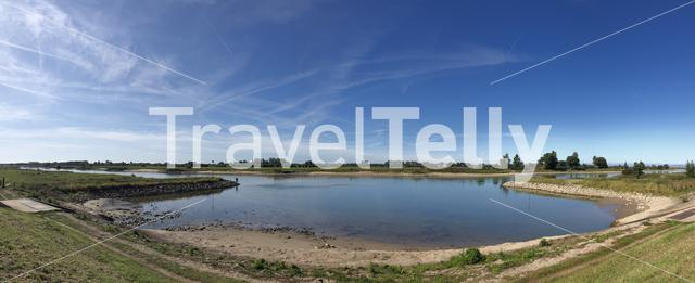 Panorama from the IJssel river around Zutphen, Gelderland The Netherlands