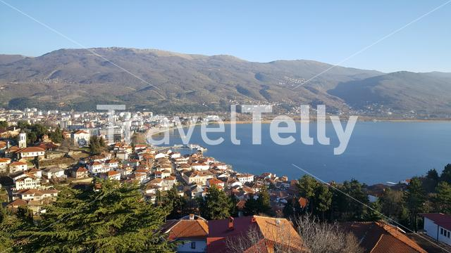 View over Ohrid from the Car Samoil's Fortress in Macedonia