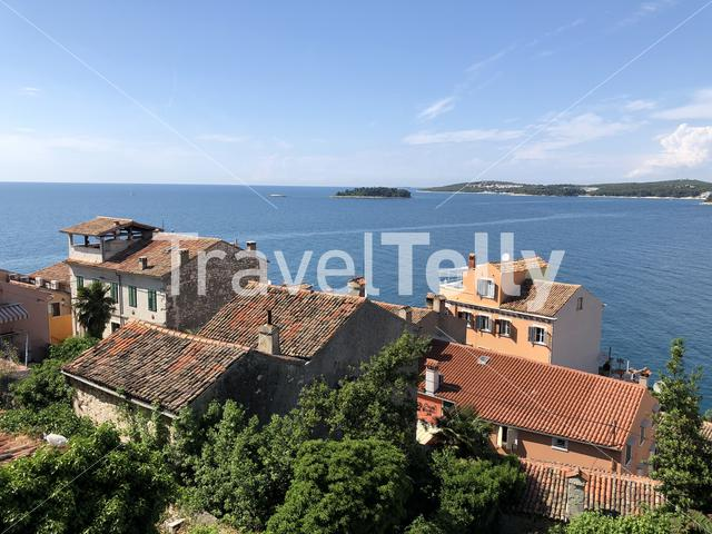 View over the old town from the Church of St. Euphemia in Rovinj Croatia