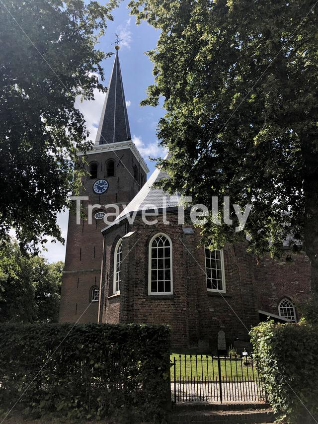 Church in Wirdum, Friesland The Netherlands