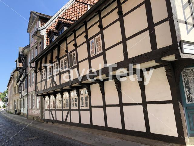 Timber frame houses in the old town of Braunschweig, Germany
