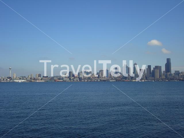 Seattle skyline in the USA