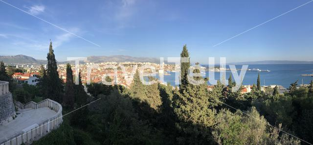 Panorama view from the Marjan Forest Park over Split Croatia