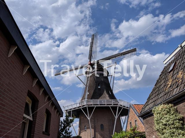 Windmill in Wolvega, Friesland The Netherlands