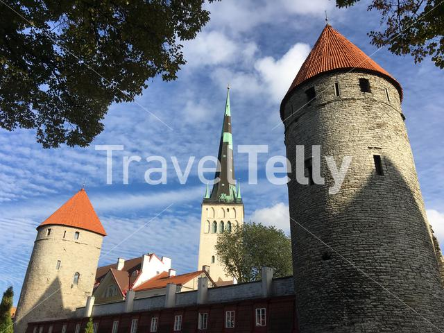 Plate Tower and the Eppingi Tower in Tallinn Estonia