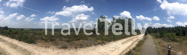 Panorama from the Lemele hill in Overijssel The Netherlands