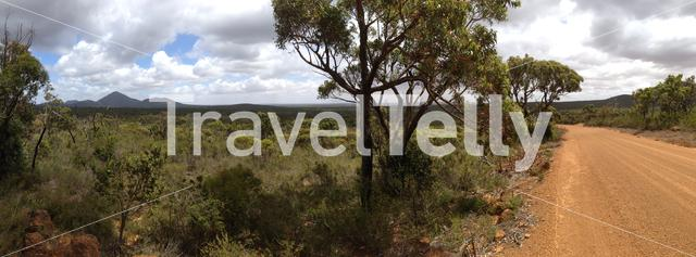 Panorama from Stirling Range National Park in Western Australia